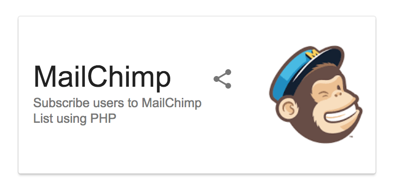 MailChimp subscribe users to list using PHP